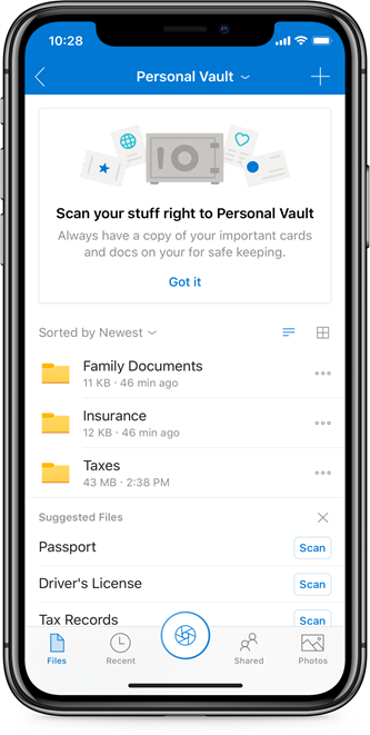 Personal Vault Mobile
