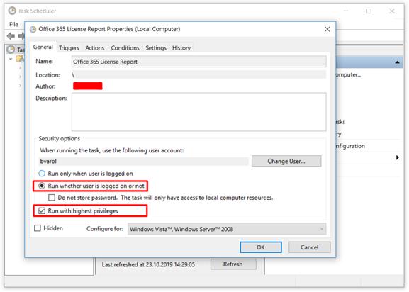 Basic Task - Security Options