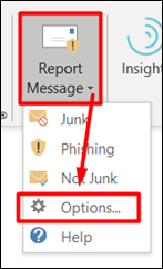 Report Message: Options