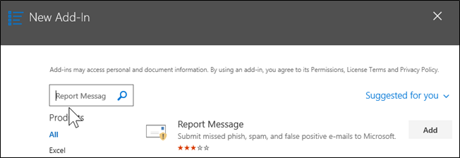 New Add-In: Report Message