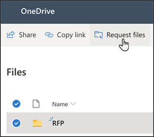 OneDrive - Request files