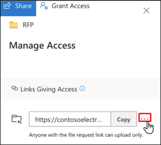 OneDrive - Manage Access