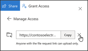 OneDrive - Delete link - Stop requesting files