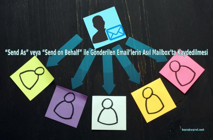 """""""Send As"""" veya """"Send on Behalf"""" ile Gönderilen Email'lerin Asıl Mailbox'ta Kaydedilmesi"""