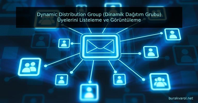 Dynamic distribution group (dinamik dağıtım grubu) üyeleri