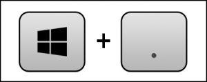 Windows tuşu + nokta: Emoji picker