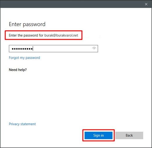 Outlook > Add Account > Enter password (for the primary mailbox/user)