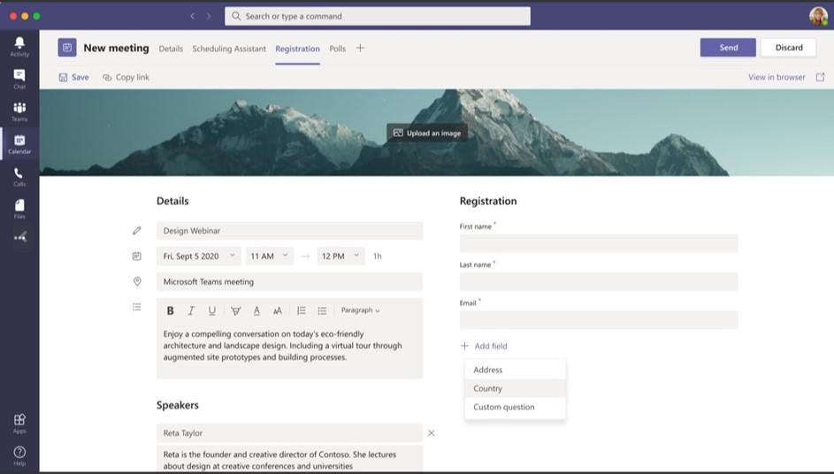 Ignite Özel - Teams Yenilikleri: Toplantılar - Webinar registration