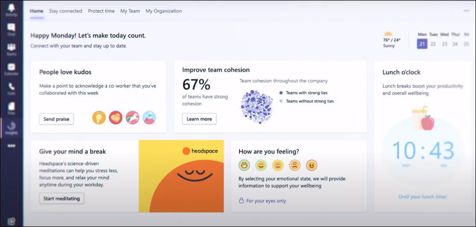 Microsoft Ignite 2020 – Teams Yenilikleri: Wellbeing and productivity insights